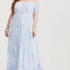 torrid Light Blue & White Paisley Maxi Dress